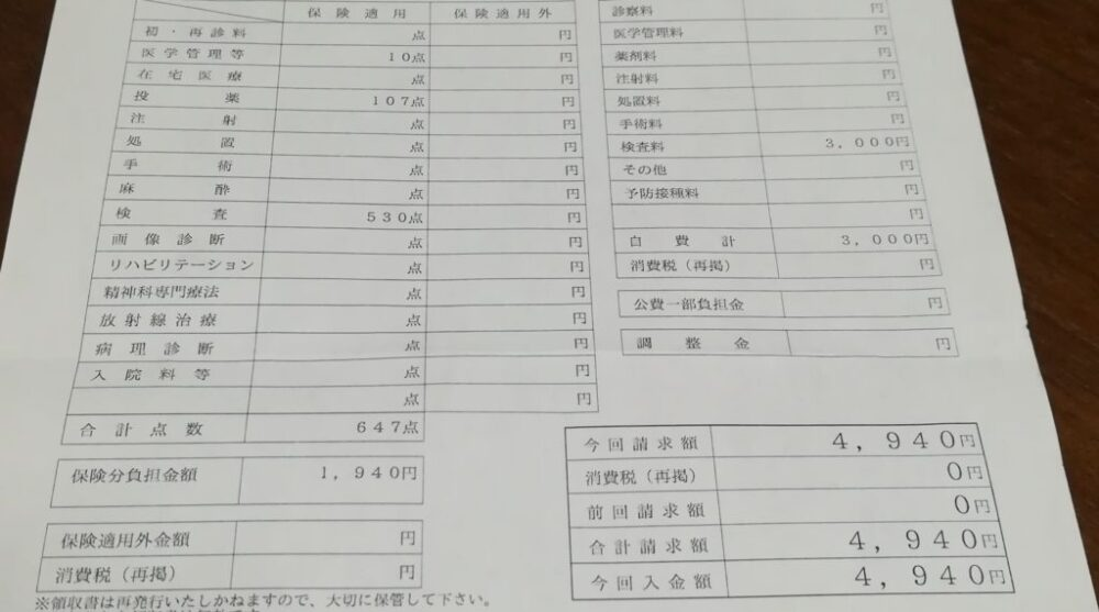 妊婦検診(21週目)